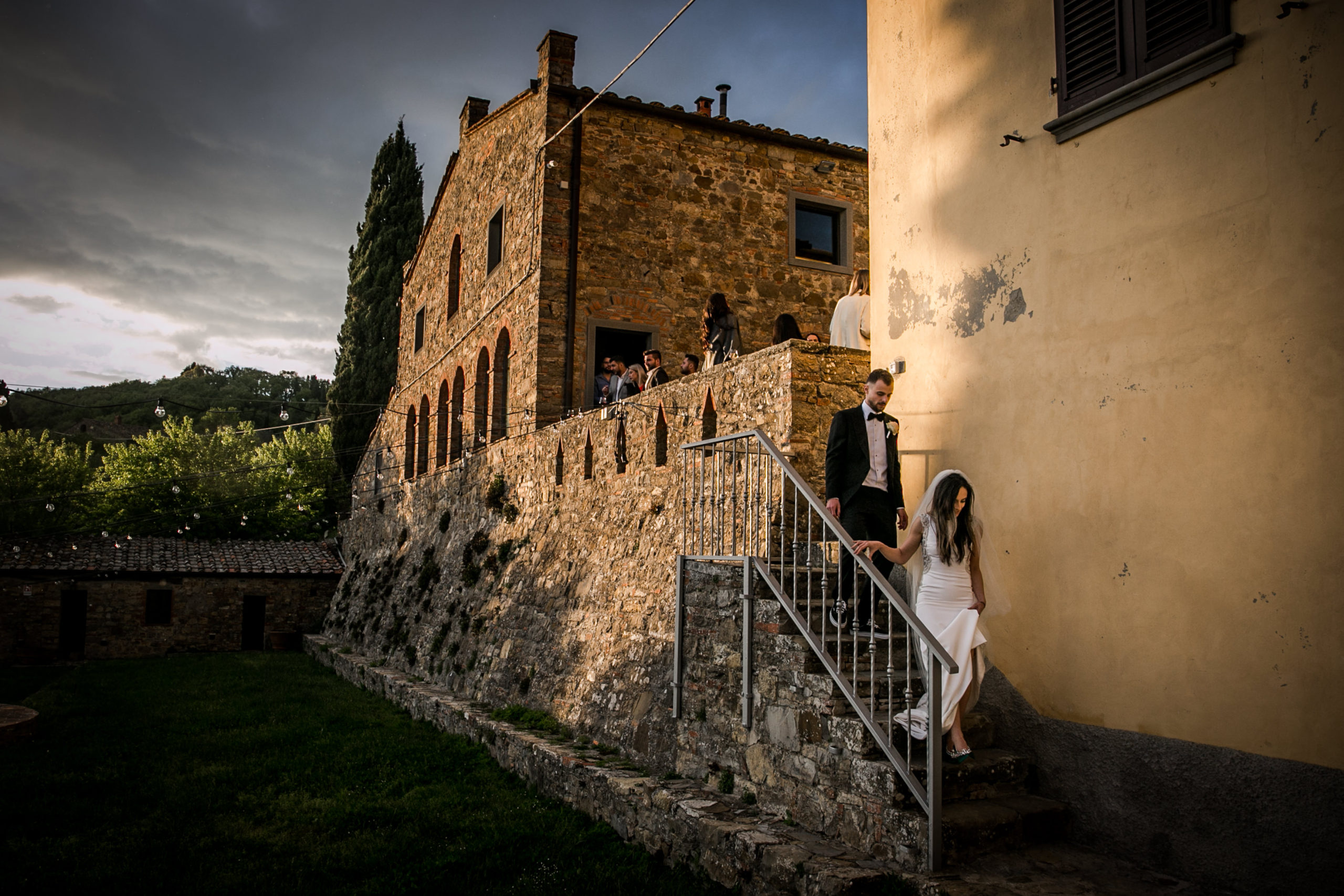 bride and groom tuscany wedding
